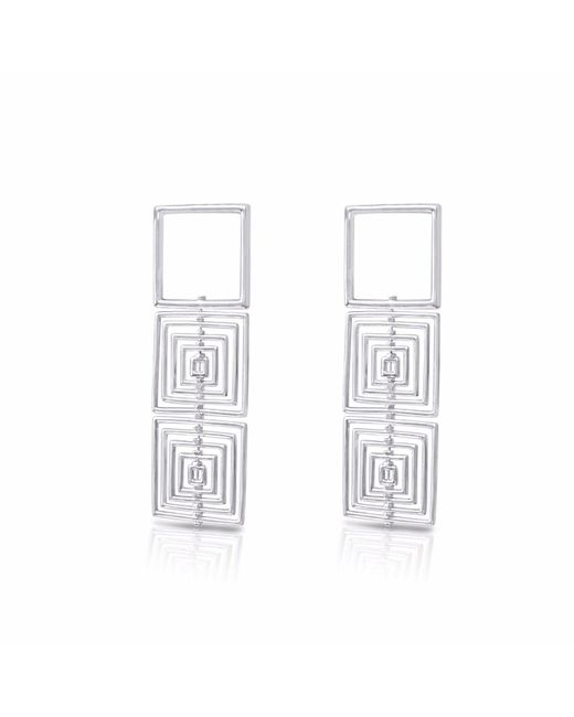 J.Y. GAO - Metallic Square To Cube Earrings - Lyst