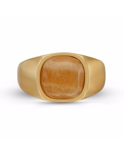 LMJ - Multicolor Yellow Lace Agate Stone Ring for Men - Lyst