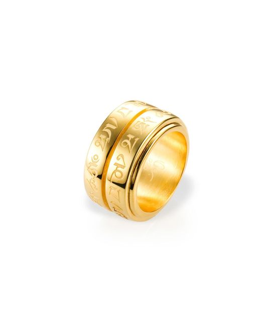Ona Chan Jewelry | Metallic Double Spinning Mantra Ring | Lyst