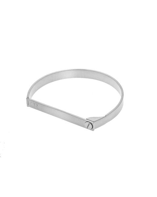 Opes Robur | Metallic Silver Screw On Love Bracelet | Lyst