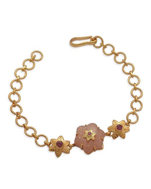 Emma Chapman Jewels - Multicolor Sylvie Peach Moonstone Ruby Bracelet - Lyst
