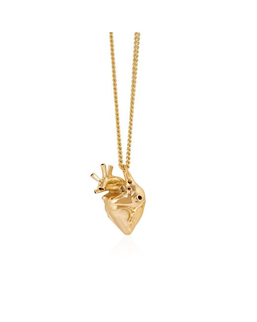 Strange Fruit - Metallic Small Heart Pendant Gold - Lyst
