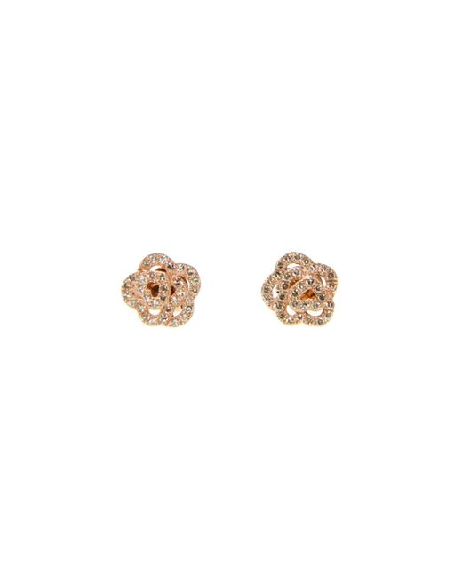 Ri Noor - Multicolor Diamond Rose Shape Earrings In 14k Rose Gold - Lyst