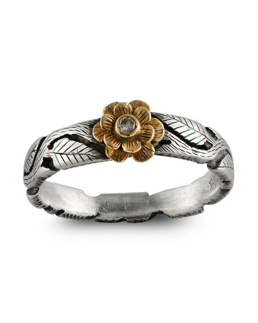 Emma Chapman Jewels - White Double Daisy Diamond Flower Ring - Lyst
