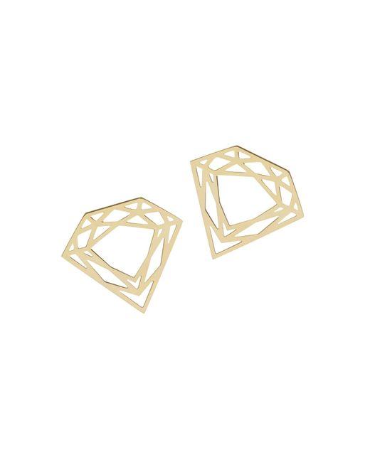 Myia Bonner - Metallic Gold Classic Diamond Stud Earrings - Lyst