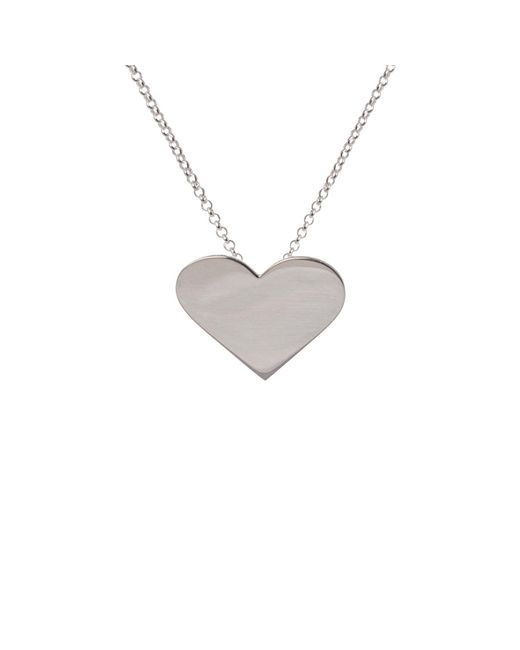Edge Only - Metallic Heart Pendant Silver - Lyst