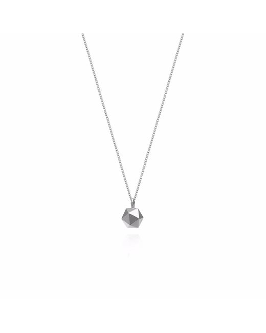 Myia Bonner | Metallic Silver Mini Icosahedron Necklace | Lyst