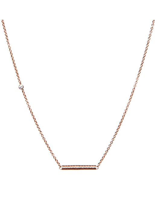 Dutch Basics - Pink Cylinder Fine Chain Necklace Rose Gold - Lyst