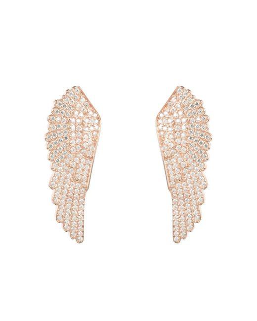 Latelita London - Metallic Large Angel Wing Earring Rosegold - Lyst