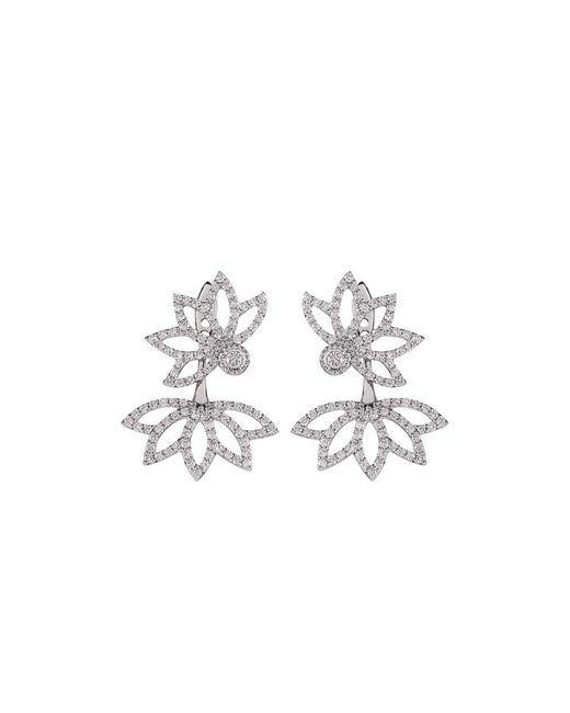 Joana Salazar   White Lotus Flower Sparkling Earjackets   Lyst