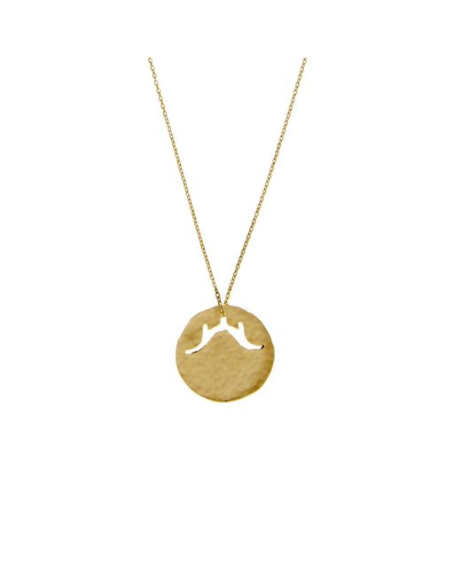 KIND Jewellery | Metallic Gold Temple Disc Necklace | Lyst