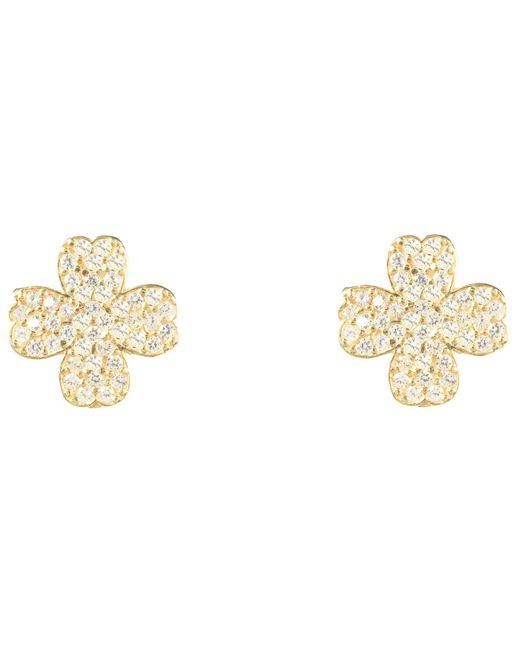 Latelita London | Metallic Lucky Four Leaf Clover Earring Gold | Lyst