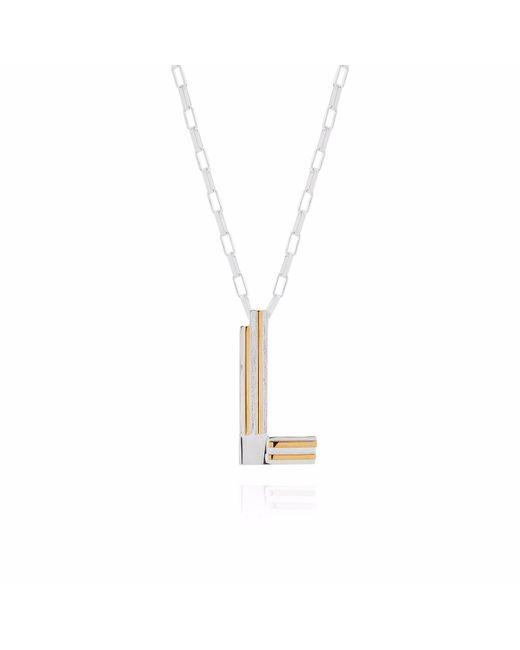 Yasmin Everley Jewellery | Metallic Saxony L Initial Neckalce | Lyst