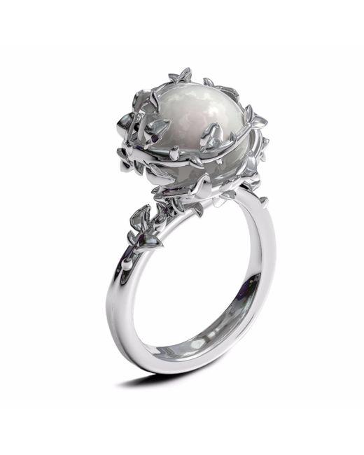 Kasun - Metallic Ivory Pearl Ring - Lyst