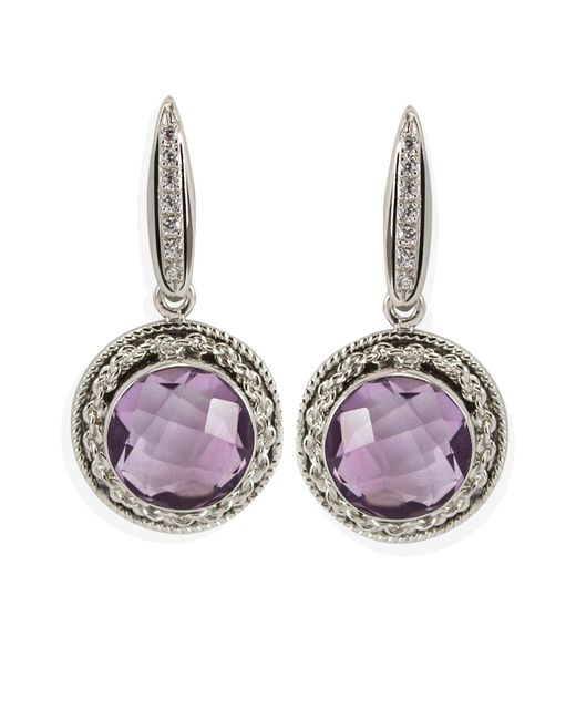 Vintouch Italy - Multicolor Minerva Amethyst Tondo Earrings - Lyst