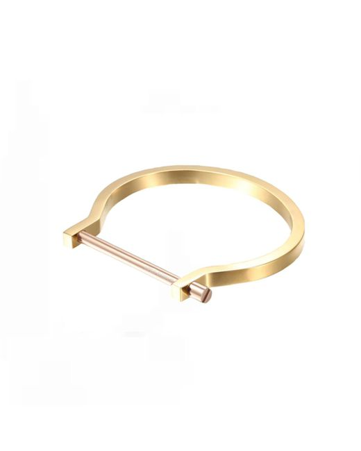 Opes Robur | Metallic Gold And Rose Classic Screw Cuff Bracelet | Lyst
