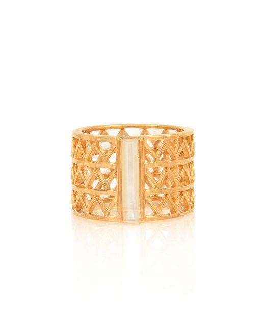 Alexandra Alberta - Metallic Guggenheim Pearl Ring - Lyst