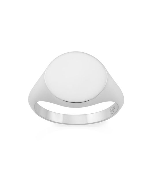 Monarc Jewellery - Metallic The Rhembo Signet Ring Sterling Silver And 9ct Gold - Lyst