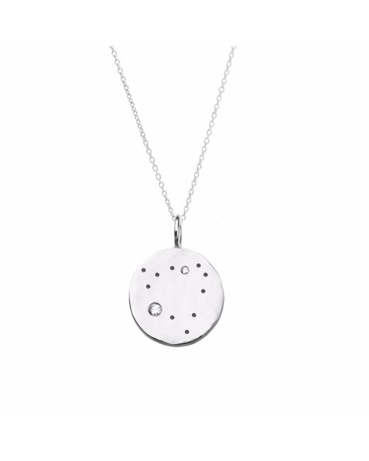 Yvonne Henderson Jewellery | Metallic Capricorn Constellation Necklace With White Sapphires Silver | Lyst