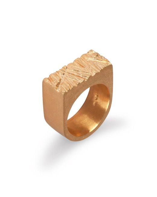 Edge Only | Metallic Rugged Ring In Gold | Lyst