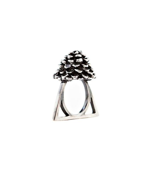 Glenda López - Metallic The Rose Triangle Ring - Lyst