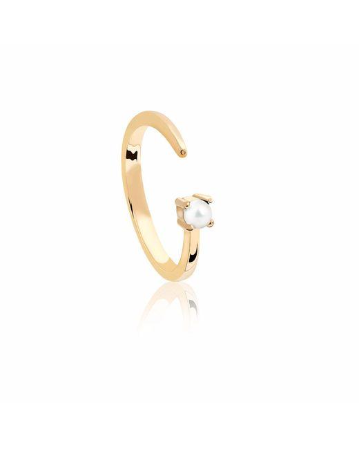 Astrid & Miyu - Metallic Gemini Zodiac Ring In Gold - Lyst