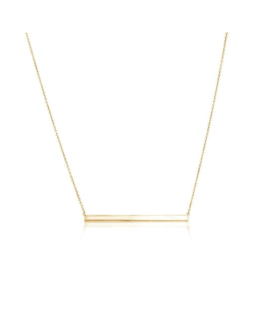 Talia Naomi - Metallic Finish Line Necklace Gold - Lyst