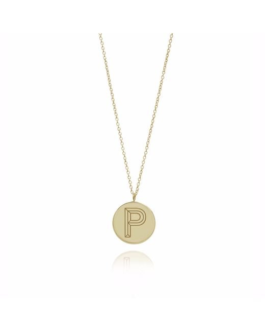 Myia Bonner | Metallic Gold P Facett Initial Necklace | Lyst