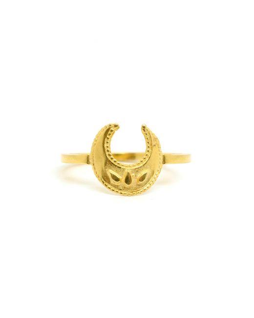 Annabelle Lucilla Jewellery - Metallic Lucky Crescent Moon Ring - Lyst