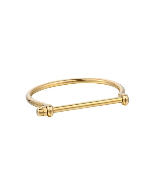 Opes Robur - Metallic All Gold Cuff Bracelet - Lyst