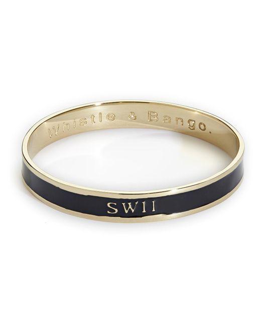 Whistle & Bango - Black Sw11 Bangle - Lyst