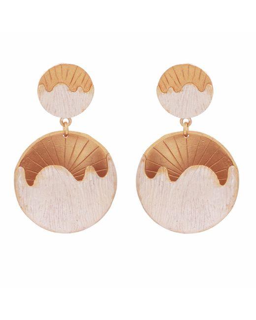 Carousel Jewels - Metallic Abstract Half Moon Earrings - Lyst