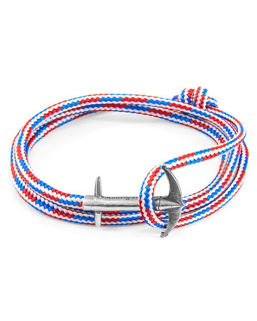 Anchor & Crew - Metallic Halyard Single Sail Silver Chain Bracelet for Men - Lyst