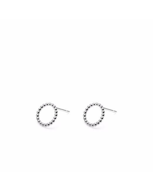 Myia Bonner - Metallic Silver Mini Ball Circle Stud Earrings - Lyst