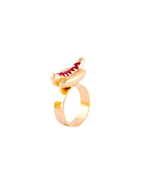 Glenda López - Metallic The Hot Dog Ring - Lyst