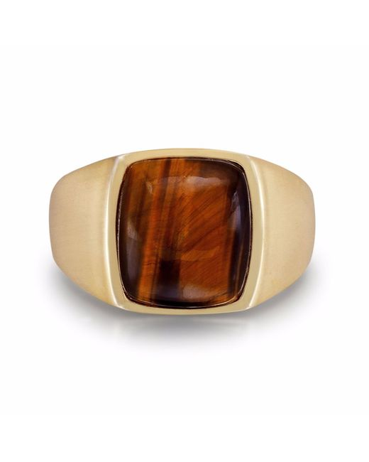 LMJ - Multicolor Chatoyant Yellow Tiger Eye Ring for Men - Lyst
