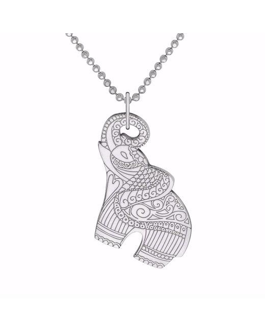 CarterGore - Metallic Silver Elephant Pendant Necklace - Lyst