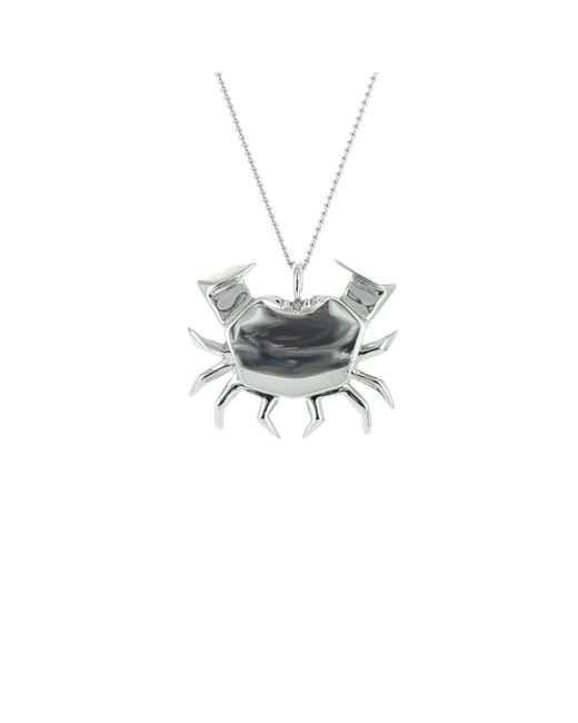 Origami Jewellery - Metallic Crab Necklace Sterling Silver - Lyst