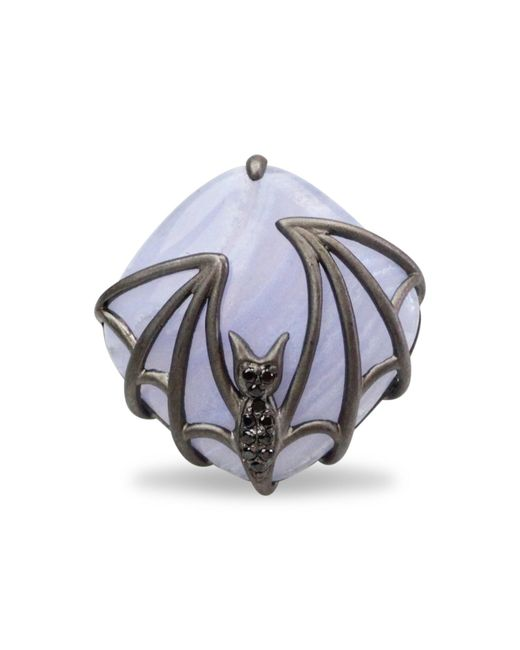 Bellus Domina - Metallic Bat Ring - Lyst