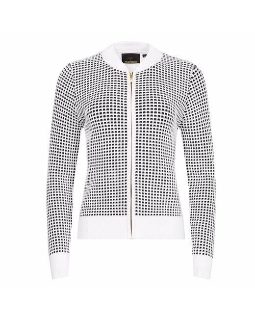 NY CHARISMA - White & Black Two-tone Waffle Pattern Jacket - Lyst