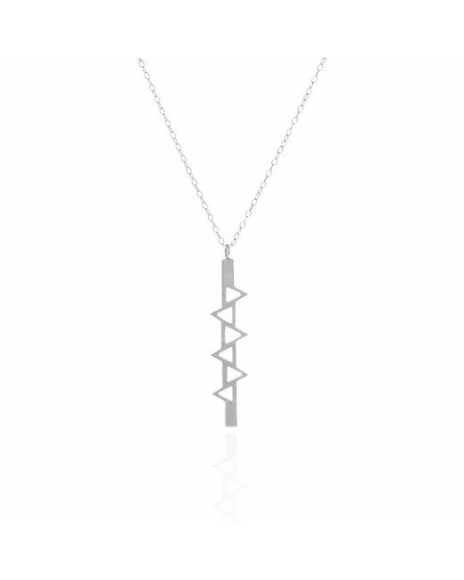 Sally Lane Jewellery - Metallic Ladder Of Life Long Silver Pendant - Lyst