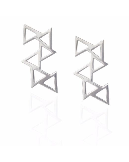Sally Lane Jewellery - Metallic Ladder Of Life Silver Earrings - Lyst