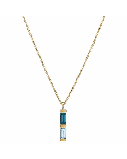 Neola - Anais Gold Necklace With London And Blue Topaz - Lyst