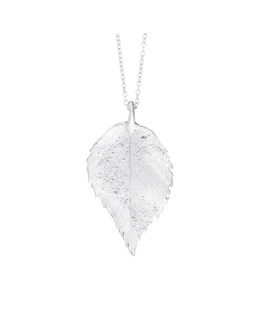 Chupi - Metallic Maxi Raspberry Leaf Necklace Silver - Lyst