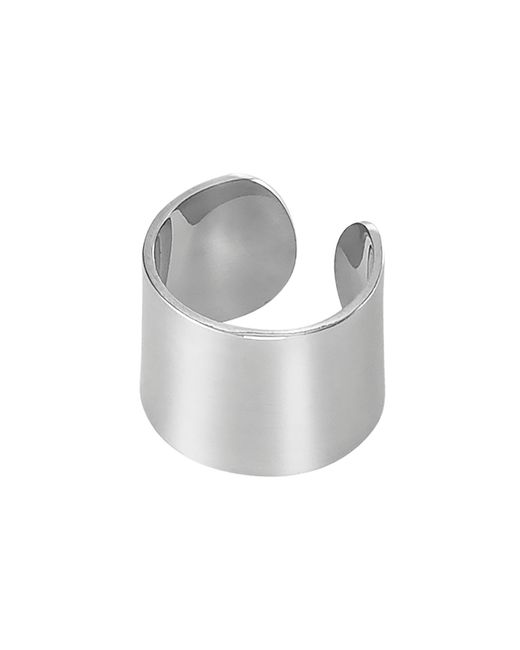 Dutch Basics - Metallic Ear Cuff Thick Silver - Lyst