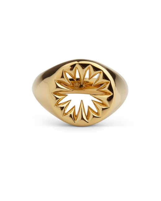 Kasun - Metallic Wild Crocodile Signet Ring Gold - Lyst