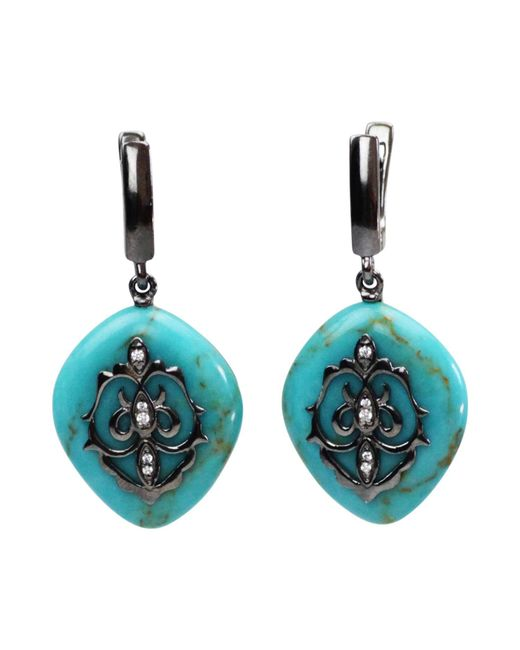 Bellus Domina - Blue Lemon Jade Festino Earrings - Lyst