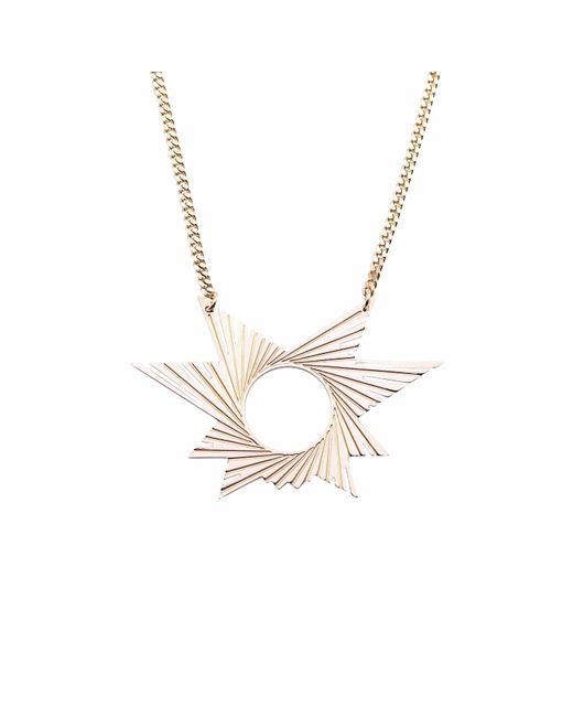 Mademoiselle Felee   Metallic Barcelona Engraved Star Estrella Necklace Gold   Lyst