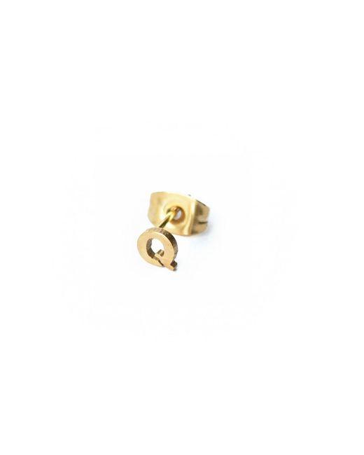 Whistle & Bango - Metallic Little Letter Q Earring 18ct Plating - Lyst