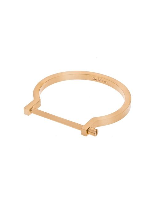 Opes Robur - Metallic Gold Classic Screw Cuff Bracelet - Lyst